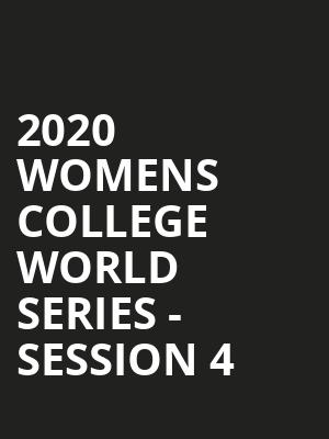 2020 Womens College World Series - Session 4 at ASA Hall of Fame Stadium