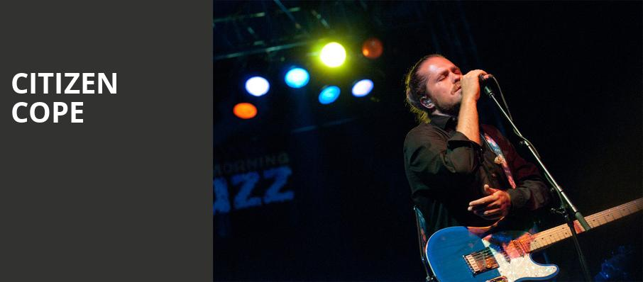 Citizen Cope, Diamond Ballroom, Oklahoma City